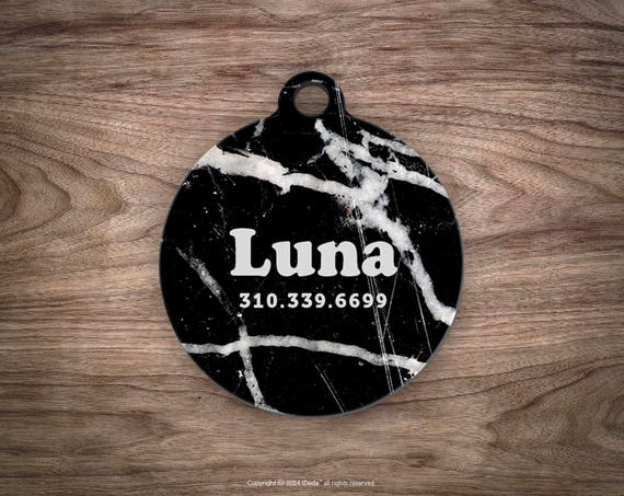 Dog tags personalized Pet id Black Marble Dog Tags Dog ID Tag Pet ID Cat Tags Dog Tag Pet Tag Pet Gift Pet Tags Dog id Tag Custom Pet id Tag