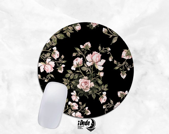 Roses Mousepad floral mouse pad Round or Rectangle Mouse pad Beautiful Design Floral Mouse pad Cute gift Mousepad 41