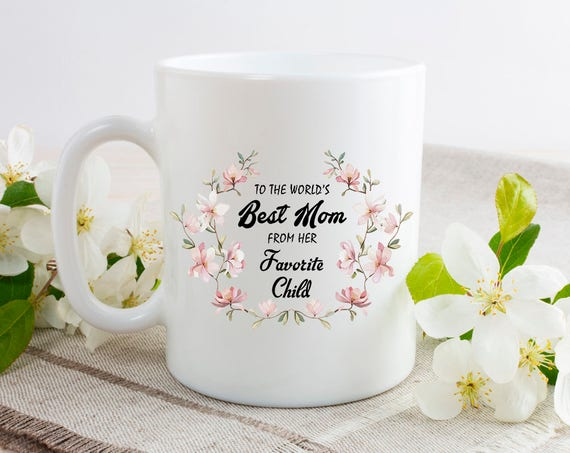 Best Mom Gift - From Doughter Gift - New Mom Mug - Mom to Be - Personalised Mum Mug - Mum Est Mug - Mom Est - Mothers Day Gift 4CA