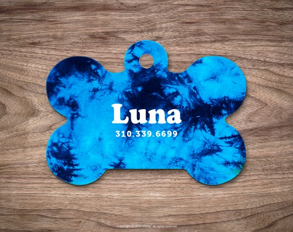 Dog Tags Tie Dye Dog Tag for Collar Cute Pet ID Tag Custom Dog Name Tag Puppy Tag Personalized Tie Dye Dog ID Tag Custom Pet Tag for Dog