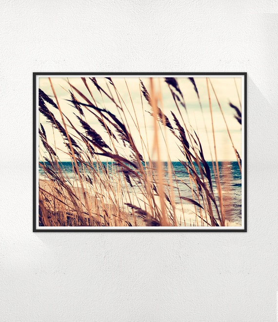 Autumn Print, Wheat Photography, Sephia photo, Ocean Wall Art, Animal Minimalist Print, Scandinavian Dinning room Wall Decor