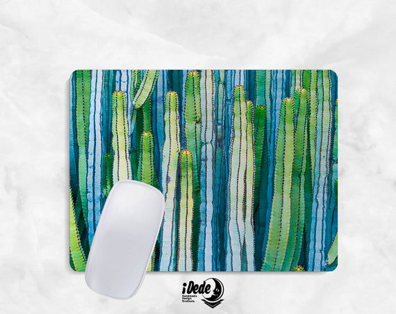 CACTUS Mousepad cactus mouse pad Round or Rectangle Mouse pad Beautiful Design Floral Mouse pad Cute gift Mousepad 40