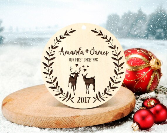 Personalized Christmas Ornament First Christmas Ornament Married Christmas Gifts for Girlfriend Christmas Gift Wedding Ornament Gift 28
