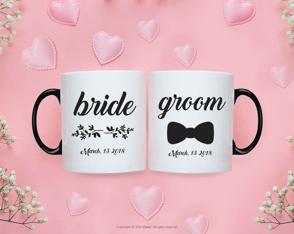 Bride Groom MUG SET / Bride Groom Gifts / Wedding / Wedding Gift Set ...