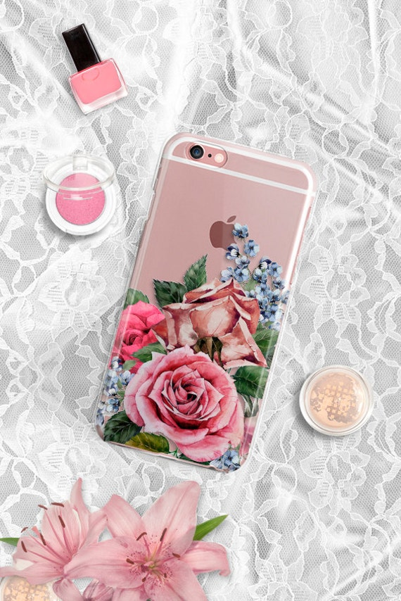 iPhone 7 Case Clear iPhone 6s case Clear Floral iPhone 6 case Floral iPhone 7 Plus case Clear iPhone 6s plus case Rubber iPhone SE Case
