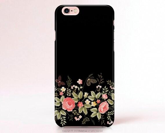 Samsung Galaxy S6 Case, Floral LG G3 Case Black Samsung S5 Case Samsung Galaxy S6 Edge Case Samsung S6 Case gift Samsung S7 Case 234