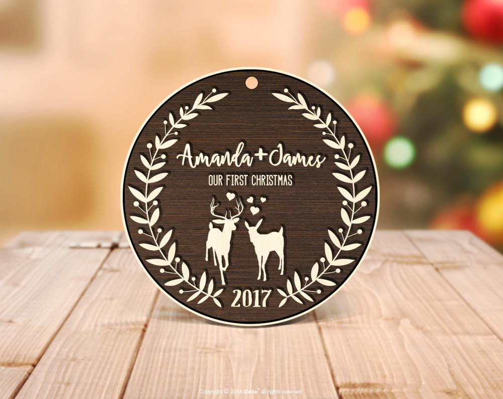 Personalized Christmas Ornaments One Year Anniversary Gift for ...