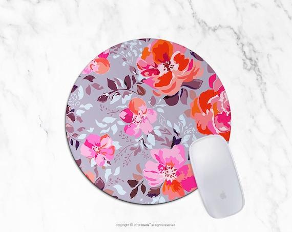 Floral Mousepad Lilac Mousepad Rectangle Mouse pad Beautiful Design Floral Mouse pad Cute gift Office Computer Accessories 5