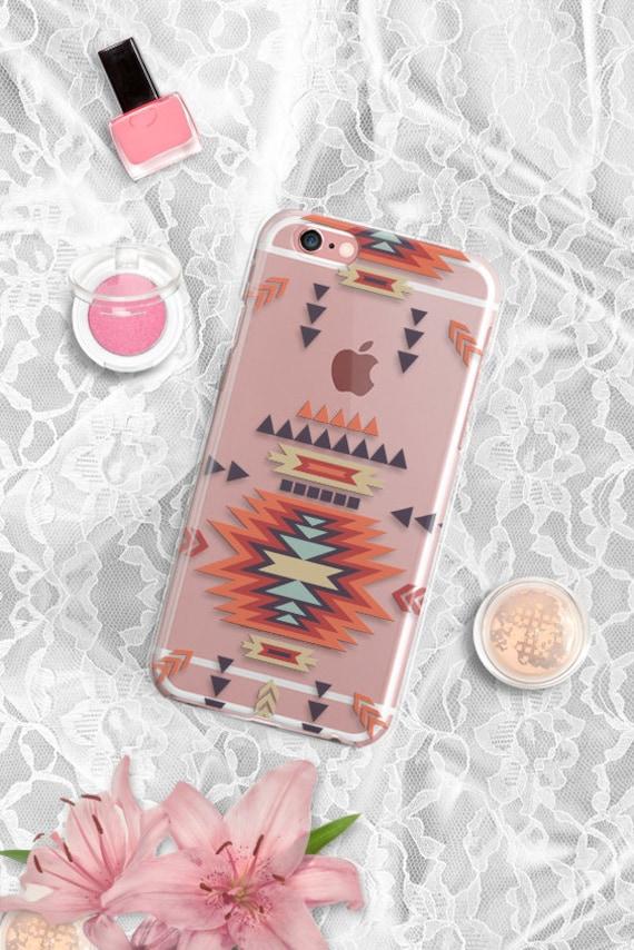 CLEAR iPhone 5 case Aztec Rubber iPhone 5s plus case iPhone SE case Transparent Note 5 case Tribal Clear iPhone 5S Case Samsung S6 Case 22