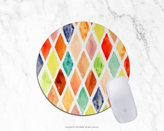Geometric Mousepad Watercolor Mousepad Rectangle Mouse pad Beautiful Design triangle Mouse pad Cute gift Office Computer Accessories 23