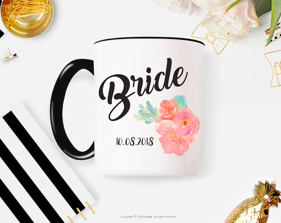 Bride gift / bride coffee mug / Bridal shower gift / wedding coffee mug / bridal party cups / bridal party coffee mugs engagement gift 229O