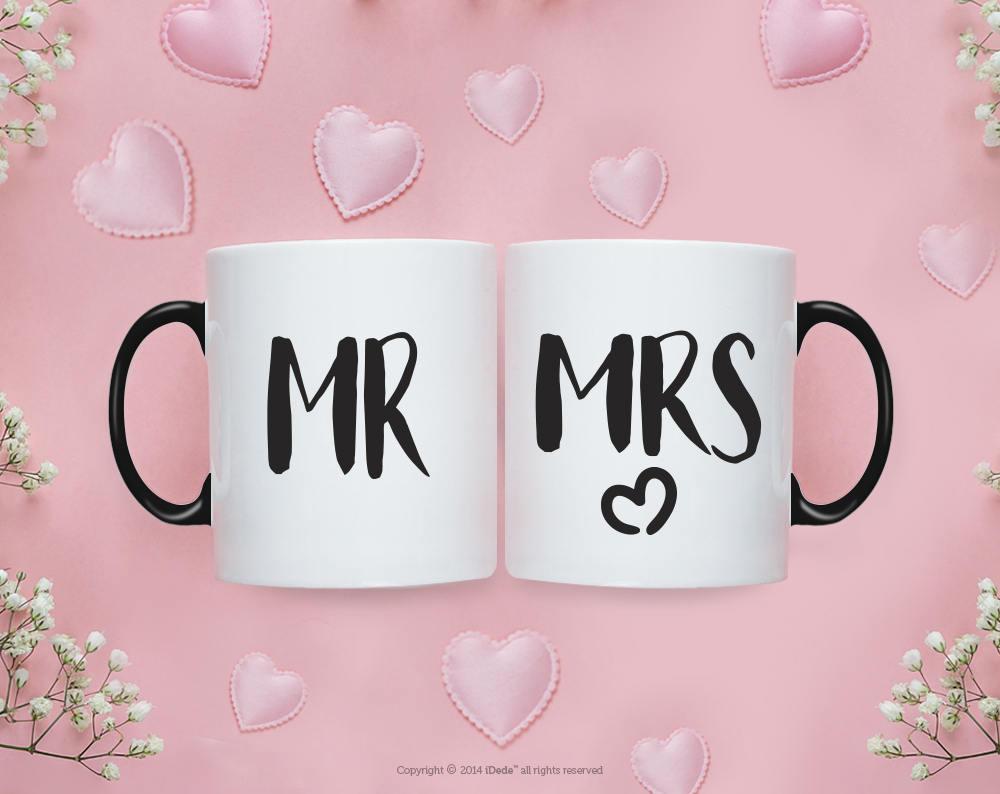 Mr Mrs MUG SET / Mr and Mrs Gifts / Wedding / Wedding Gift Set | Etsy