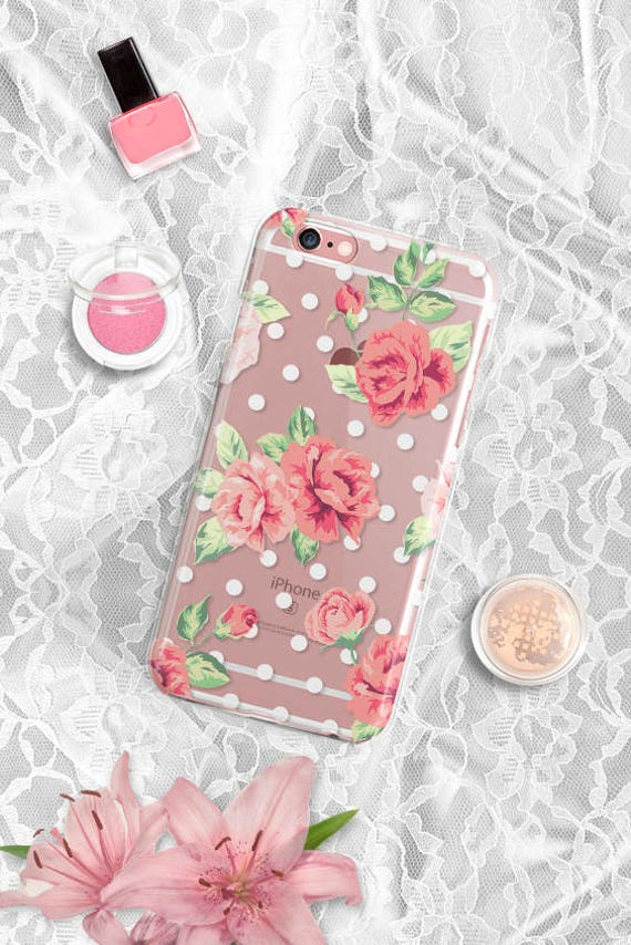 iPhone 7 Case vintage floral iPhone 8 Case Clear iPhone 8 Plus Case Clear Samsung Galaxy S8 Case iPhone 7 Plus Case iPhone 6 Case iPhone 5