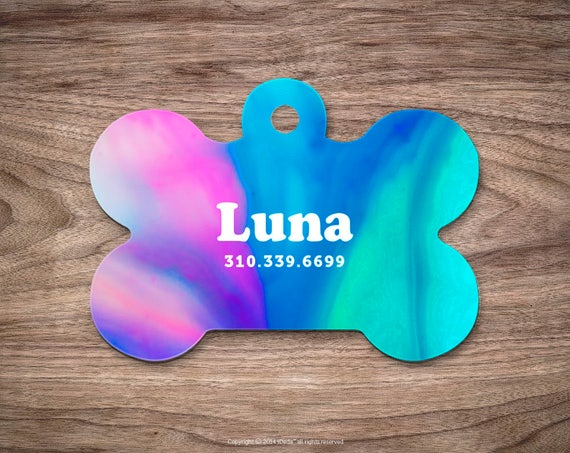 Dog Tag Ombre Dog Tag for Collar Cute Pet ID Tag Custom Dog Name Tag Marble Puppy Tag Personalized Dog ID Tag Custom Pet Tag for Dog