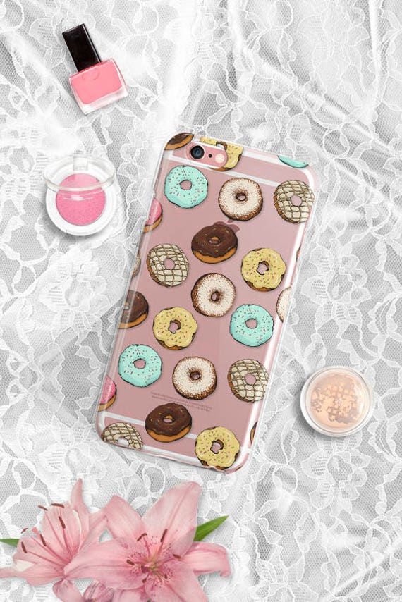 iPhone X Case donuts iPhone 8 Case Clear iPhone 8 Plus Case Clear Samsung Galaxy S8 Case iPhone 7 Plus Case iPhone 6 Plus Case iPhone 6 Case