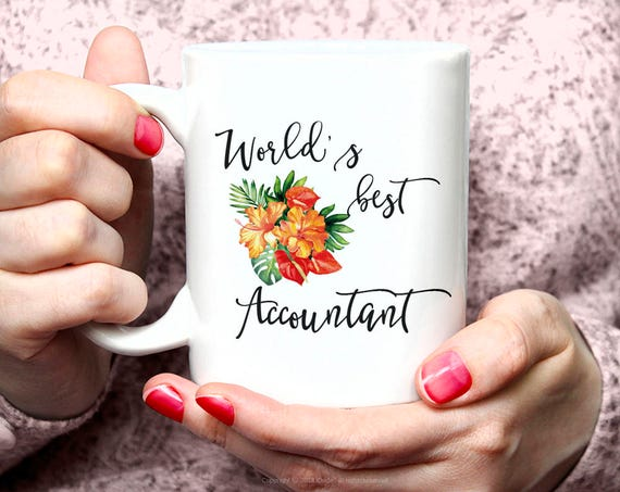 Accountant Gift Coffee Mug Gifts for Accountants Gift Coffee Mug for Accountants Accountant thank you gift Worlds Best accountant mug 16G