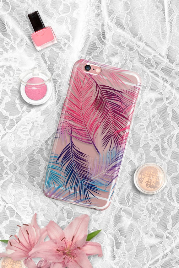 iPhone SE case Clear Palm Leaves iPhone 6s case TPU iPhone 6 case Tough iPhone 6s plus case Samsung Note 7 case Clear iPhone 6 Plus case