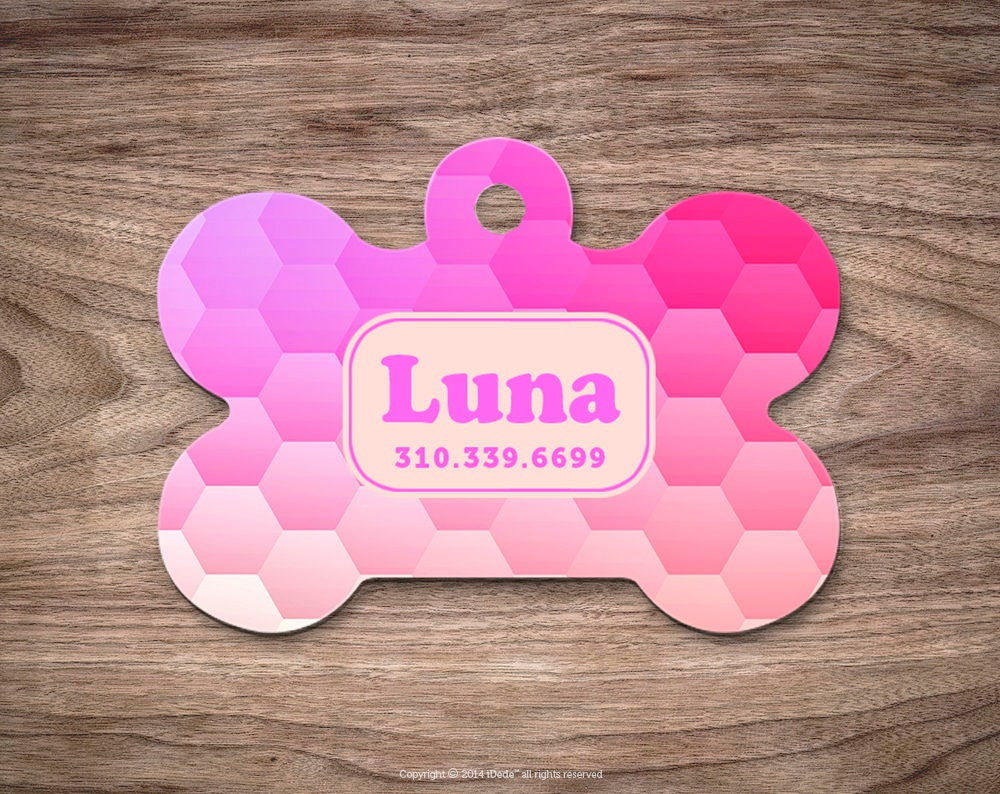 dog tag honeycomb dog tag for collar cute pet id tag custom dog name