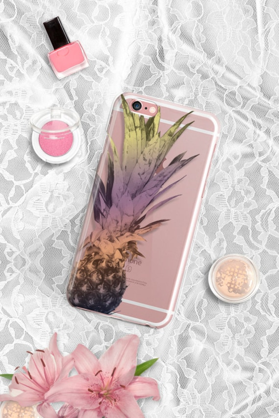 iPhone 7 Case Clear Pineapple iPhone 7 Case Clear iPhone 6 Case iPhone 5 SE Case iPhone 6s Plus Case Soft Silicone iPhone 6sCase Rubber