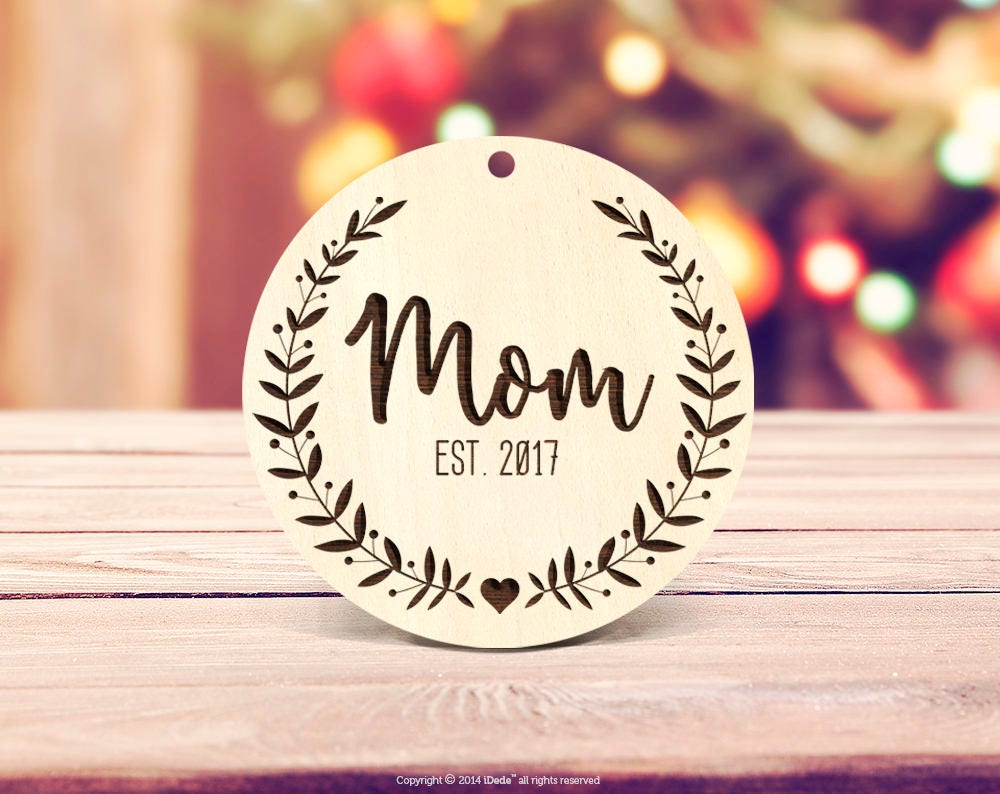 Parents Christmas gift Mom Ornament Custom Ornament New Mom Ornament ...