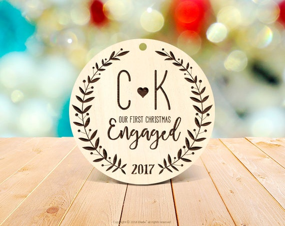 Our First Christmas Engaged Ornament Engagement Personalized Wedding Ornament Engaged Christmas Ornament 1st Engaged Christmas decorations