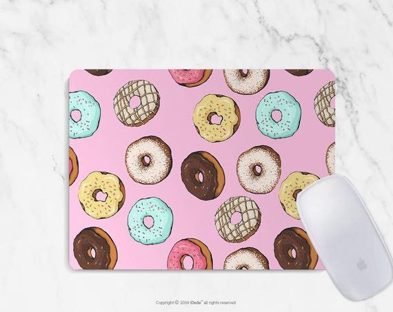 Donut Mousepad Donuts mouse pad Round mousepad Rectangle Mouse pad Beautiful Design Mouse mat Cute gift Mousepad 29