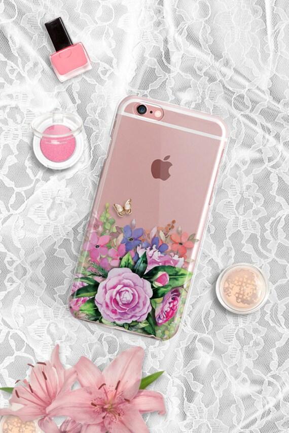 Samsung Galaxy S7 case Clear TPU Samsung Galaxy Note 5 case Rubber Samsung Galaxy S6 case Floral Samsung Galaxy S7 Edge case Clear iPhone 7