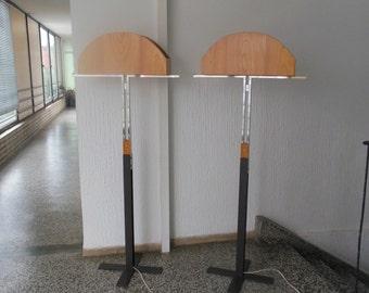 Pair of  designer  floor lamps 1970-1980s.
