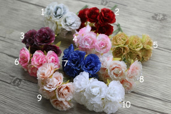 Bunch of 6 millinery silk flower bouquet flower arrangements etsy image 0 mightylinksfo