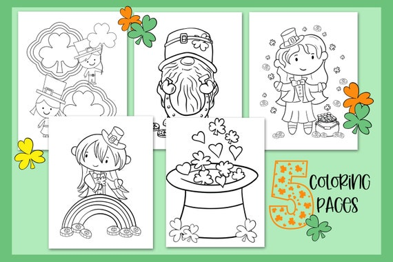 St Patrick's Day Coloring and Activity Sheets St Pats