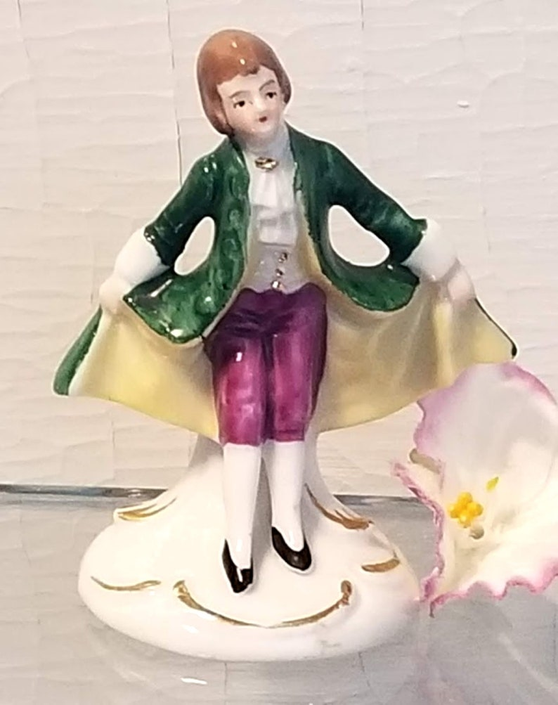 Gentleman Figurine 18th Century-style Miniature Porcelain Figure Made in Germany