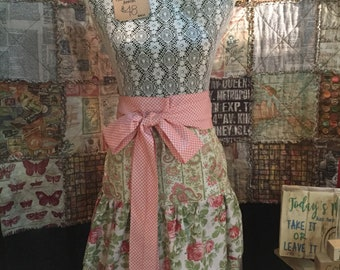 French Market Apron pink floral