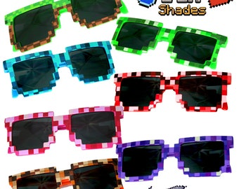 ef71ea6bc1 8 Pack Retro Sunglasses   90s Sunglasses   Party Sunglasses   Kids  Sunglasses   Youth Sunglasses   80s Retro Sunglasses   Video Game Party