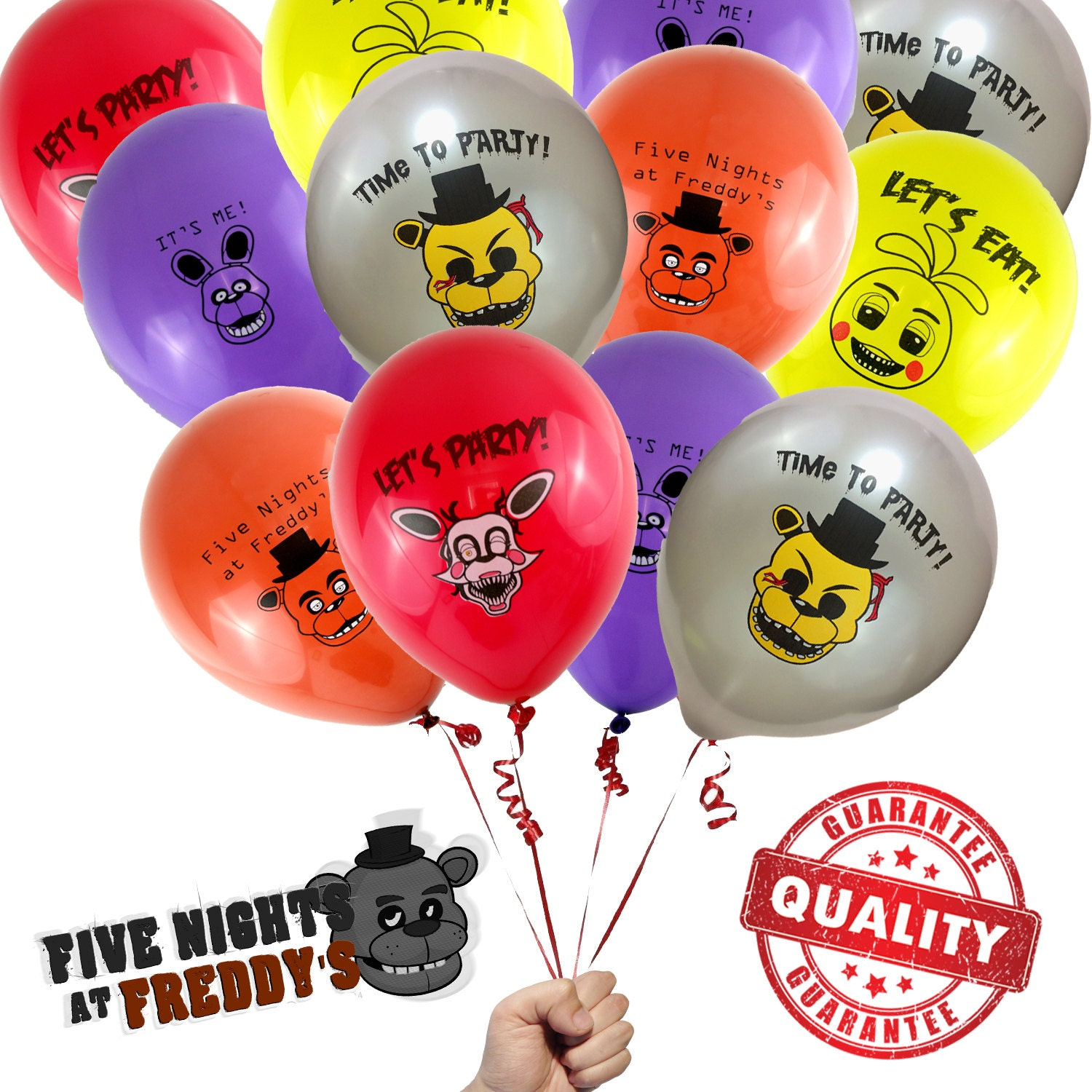 20 Five Nights at Freddys Balloons / FNAF Brithday Party | Etsy