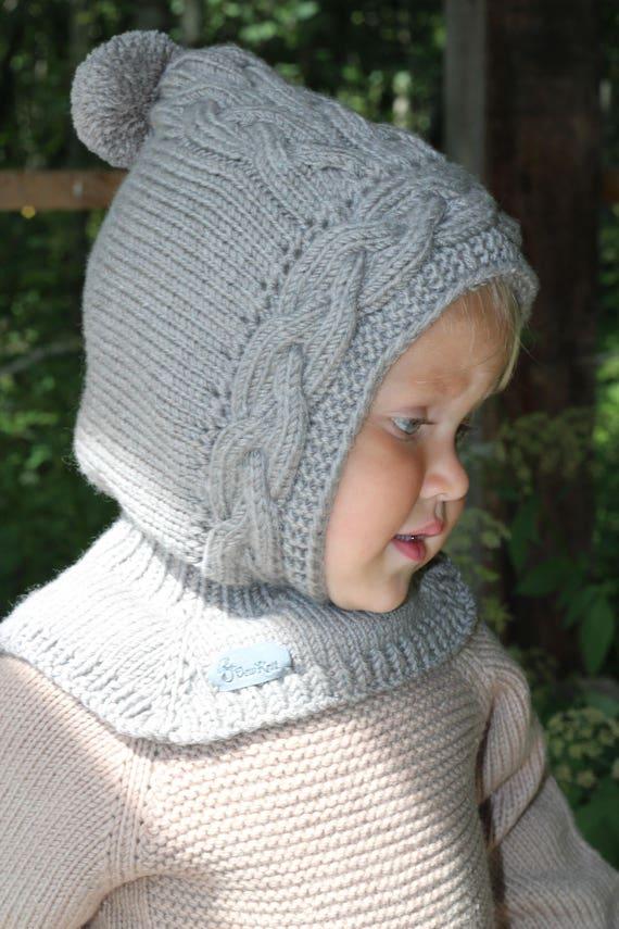 Stricken Baby Sturmhaube stricken Baby elf Hut mit Kragen