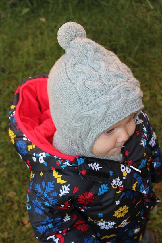 Wolle Baby Balaclava stricken Babymütze Kleinkind-Hut | Etsy