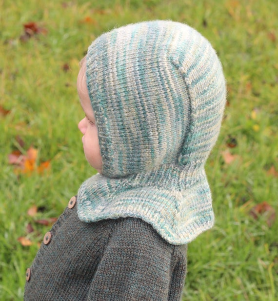 Stricken junge Sturmhaube Babymütze Baby-Hoodie-Mütze | Etsy