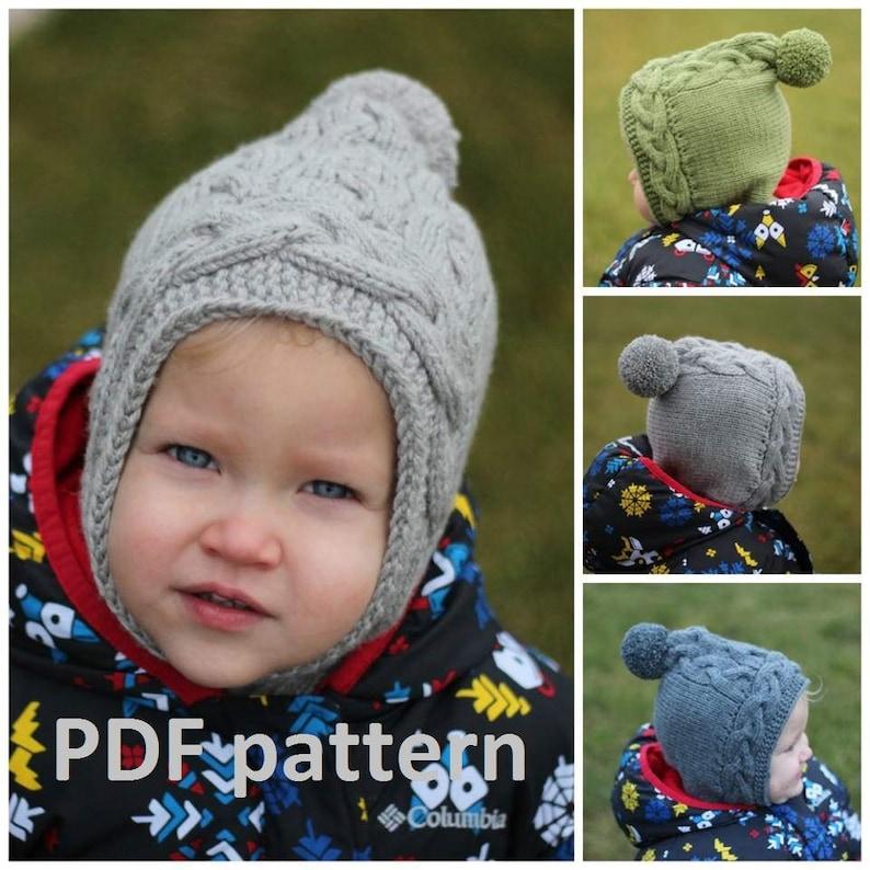 Knitting PDF pattern Balaclava pattern hat knitting pattern  375fe9e676c