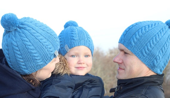 e0658dec0f6 Matching hats father son hats matching bobble hats wool