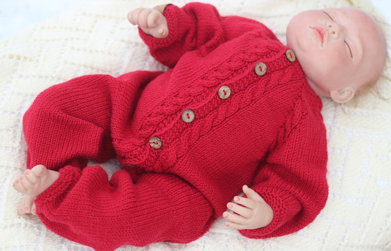 0e3cd3ff0b46 Knitted baby overall merino wool romper wool jumpsuit baby