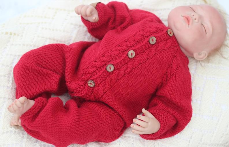 bb01eccf4b15 Knitted baby overall merino wool romper wool jumpsuit baby