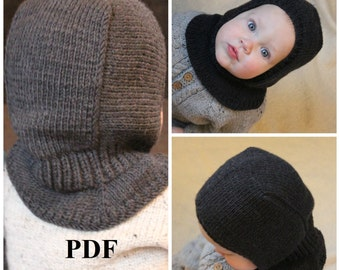 Knitting PDF pattern, Balaclava pattern, Balaclava knitting pattern, hat knitting pattern, winter hat pattern, helmet hat pattern