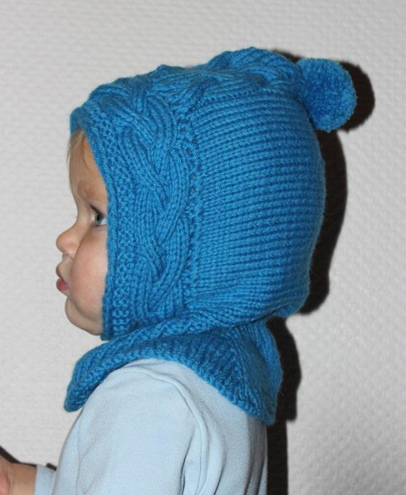 Hand stricken Baby elf Hut mit Kragen Haube Schal Mütze | Etsy