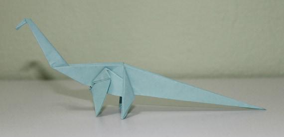 Diplodocus Hallorum Dinosaur Origami Etsy