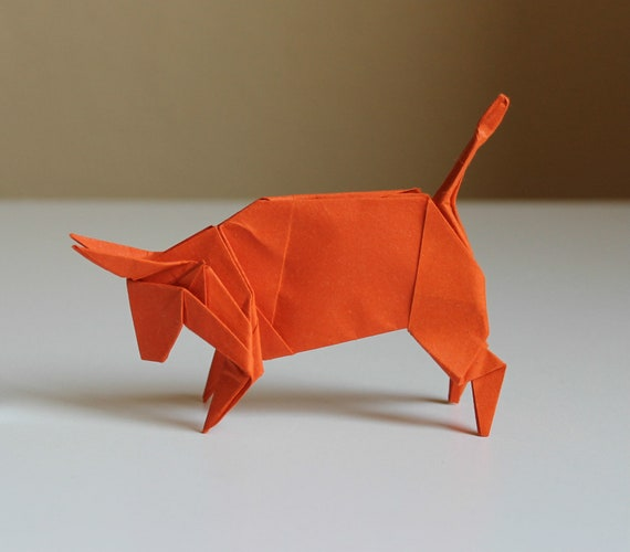 How to make origami paper Bull? - YouTube | 500x570