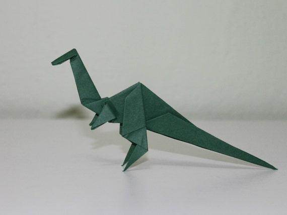 How to make a Velociraptor - Dinosaur 49 [Origami Hiroshi] - YouTube   428x570