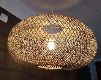 "XL Design lampshade ""Boracay"" made of bamboo, ceiling lamp, handmade, boholook, bohostyle"