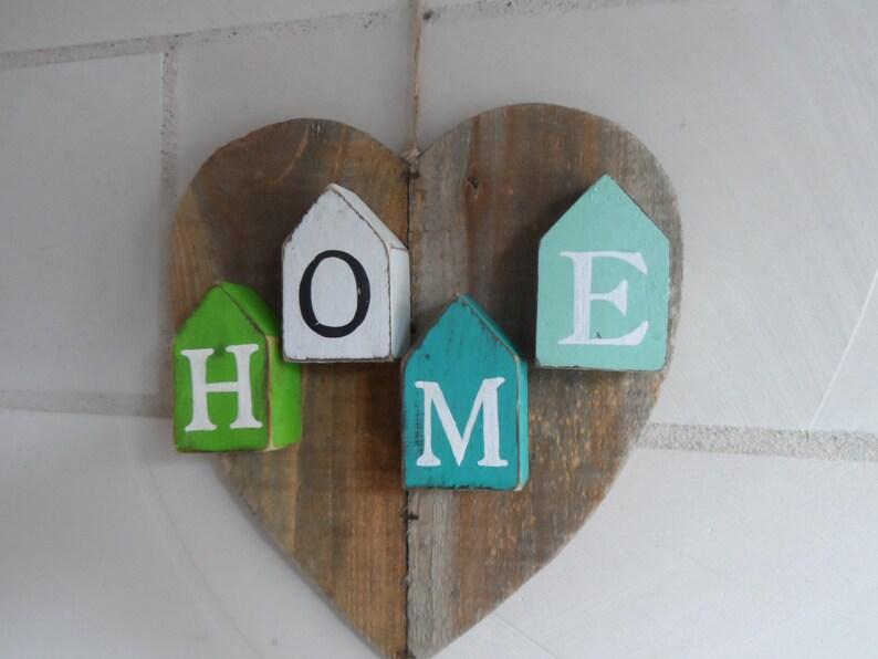 Heart home shabby vintage single piece image 0