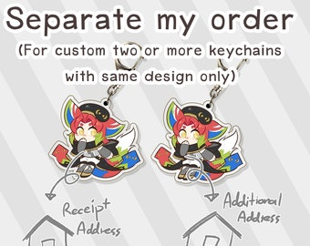 Upgrade Your Custom Keychain Order - Separate my Order