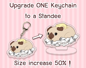 Upgrade Your Custom Keychain Order - Make It Into A Standee !